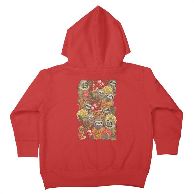 Because Sloths Autumn Kids Toddler Zip-Up Hoody by huebucket's Artist Shop