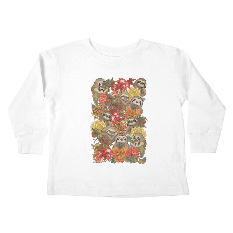 Because Sloths Autumn Kids Toddler Longsleeve T-Shirt by huebucket's Artist Shop