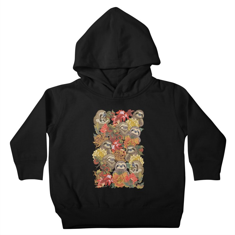 Because Sloths Autumn Kids Toddler Pullover Hoody by huebucket's Artist Shop