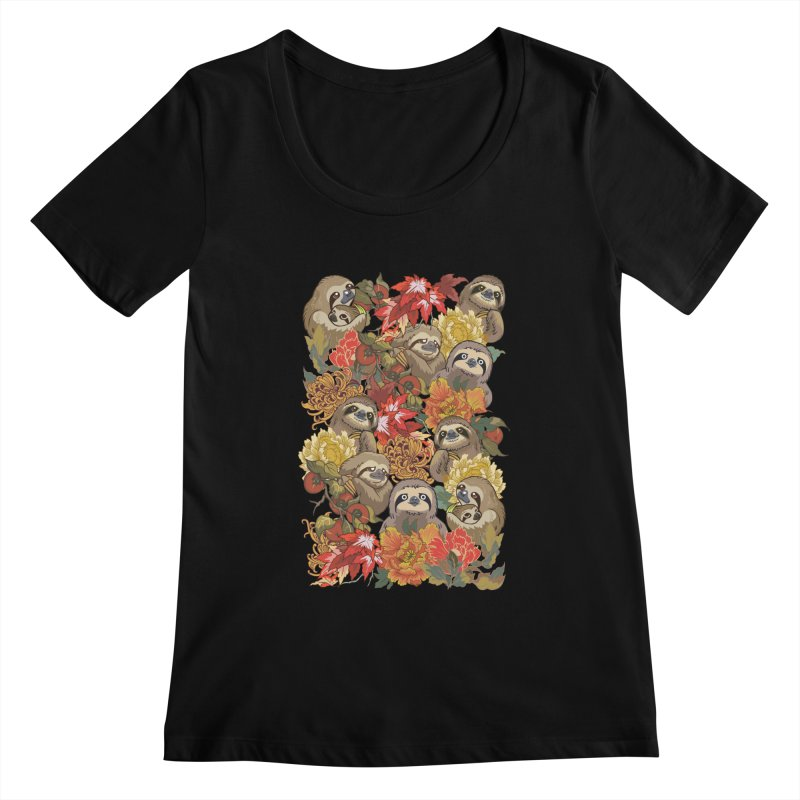 Because Sloths Autumn Women's Scoopneck by huebucket's Artist Shop
