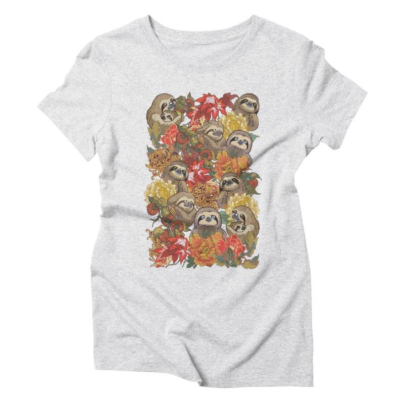 Because Sloths Autumn Women's Triblend T-Shirt by huebucket's Artist Shop