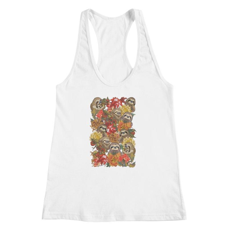 Because Sloths Autumn Women's Racerback Tank by huebucket's Artist Shop