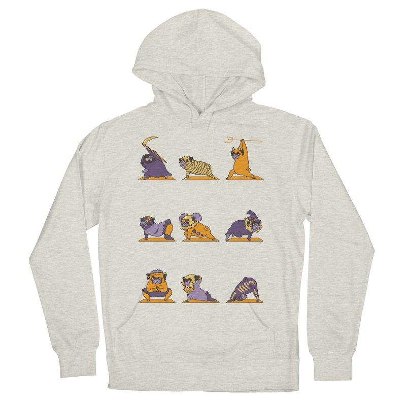 Pug Yoga Halloween Monsters Women's Pullover Hoody by huebucket's Artist Shop