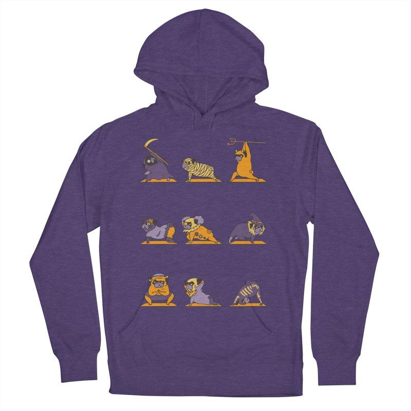Pug Yoga Halloween Monsters Men's Pullover Hoody by huebucket's Artist Shop