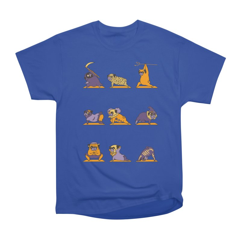 Pug Yoga Halloween Monsters Men's Classic T-Shirt by huebucket's Artist Shop
