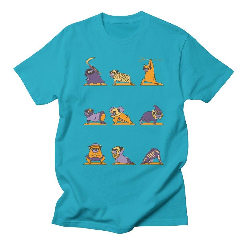 Pug Yoga Halloween Monsters Men's T-shirt by huebucket's Artist Shop