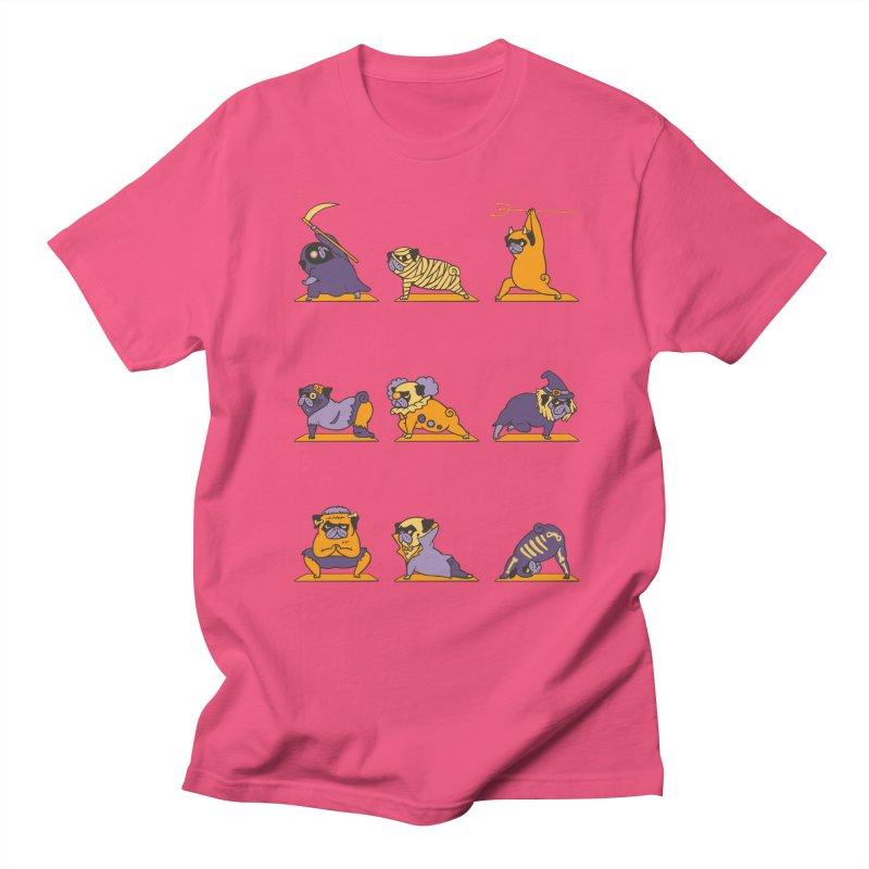 Pug Yoga Halloween Monsters Women's Unisex T-Shirt by huebucket's Artist Shop