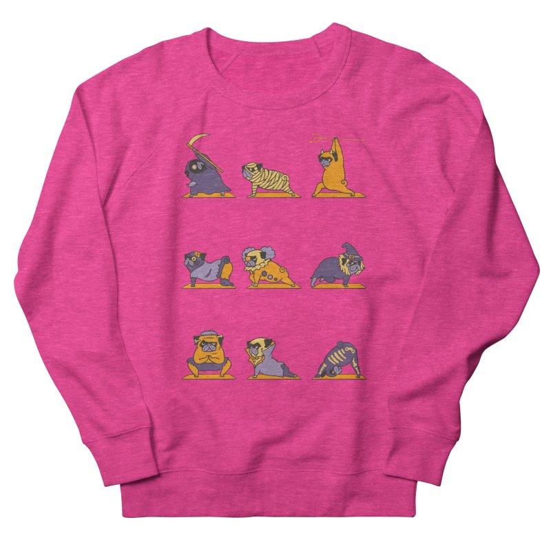Pug Yoga Halloween Monsters Women's Sweatshirt by huebucket's Artist Shop