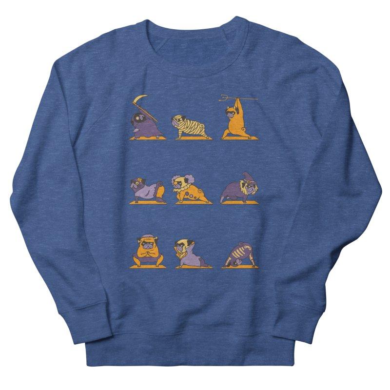 Pug Yoga Halloween Monsters Men's Sweatshirt by huebucket's Artist Shop
