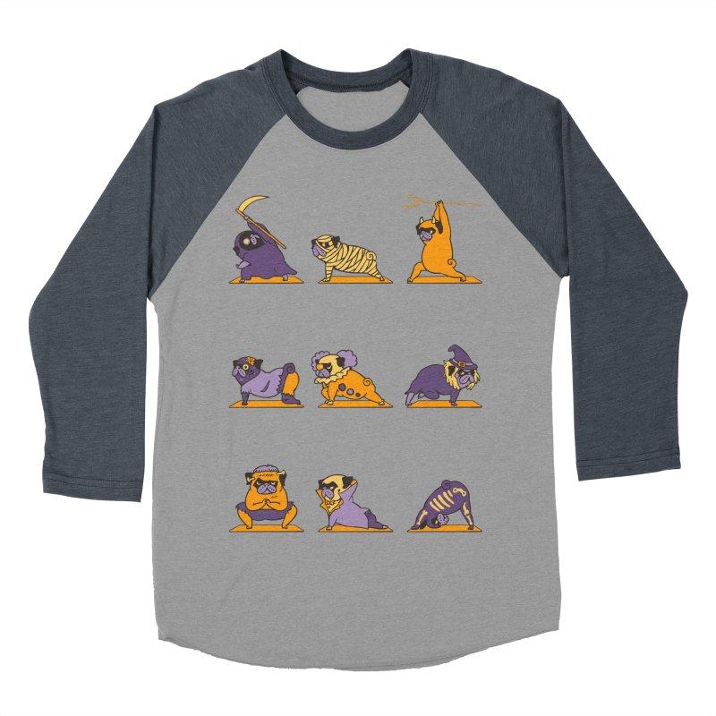 Pug Yoga Halloween Monsters Women's Baseball Triblend T-Shirt by huebucket's Artist Shop