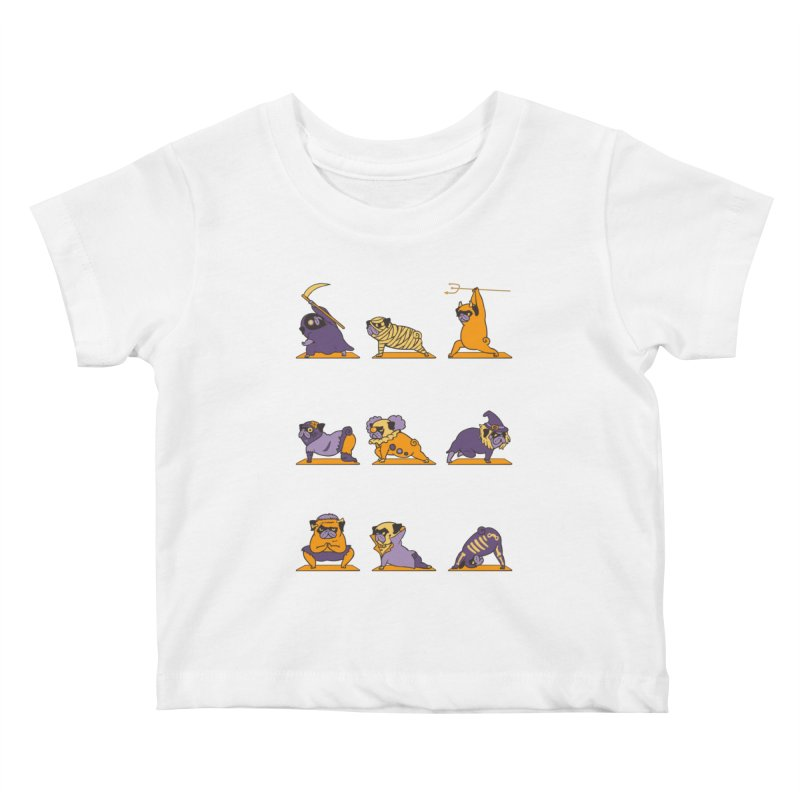 Pug Yoga Halloween Monsters Kids Baby T-Shirt by huebucket's Artist Shop