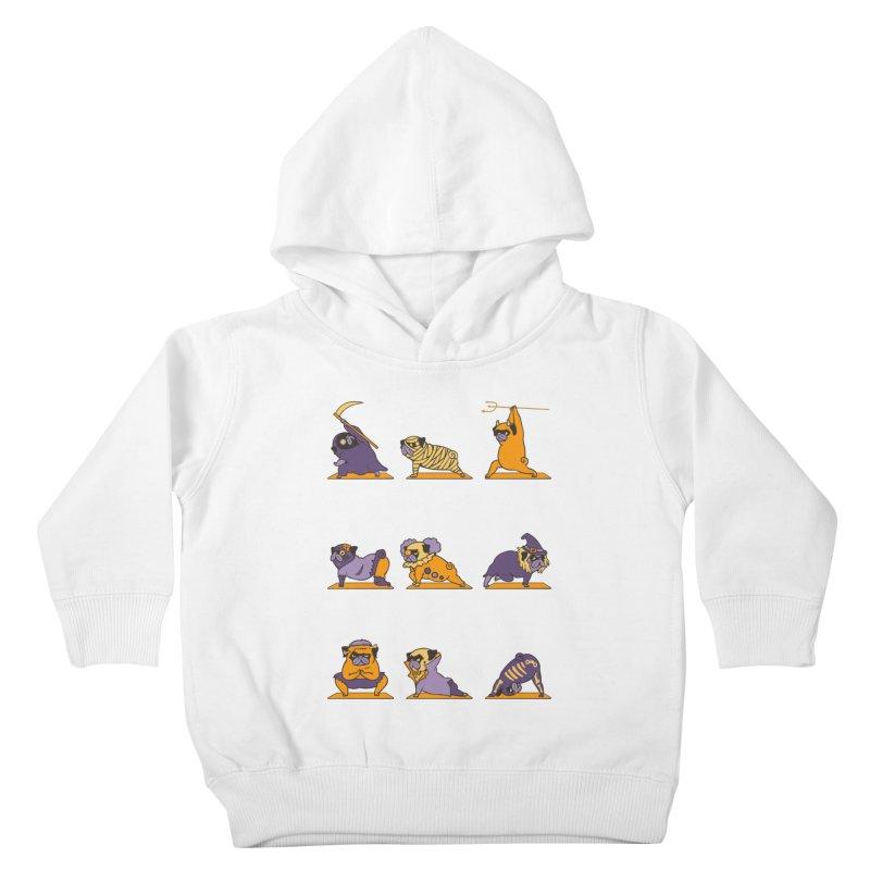 Pug Yoga Halloween Monsters Kids Toddler Pullover Hoody by huebucket's Artist Shop