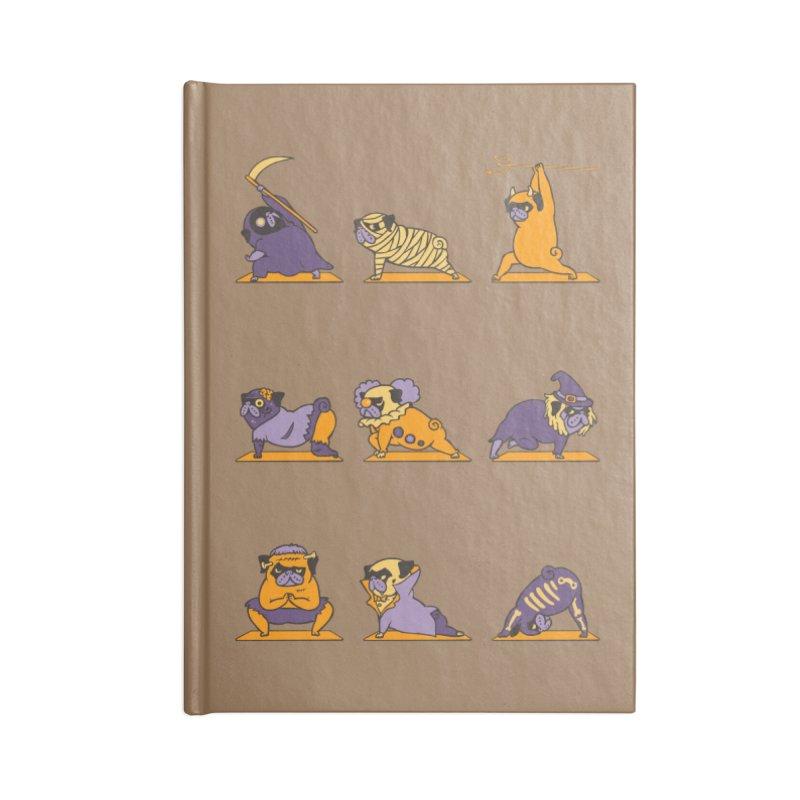 Pug Yoga Halloween Monsters Accessories Notebook by huebucket's Artist Shop