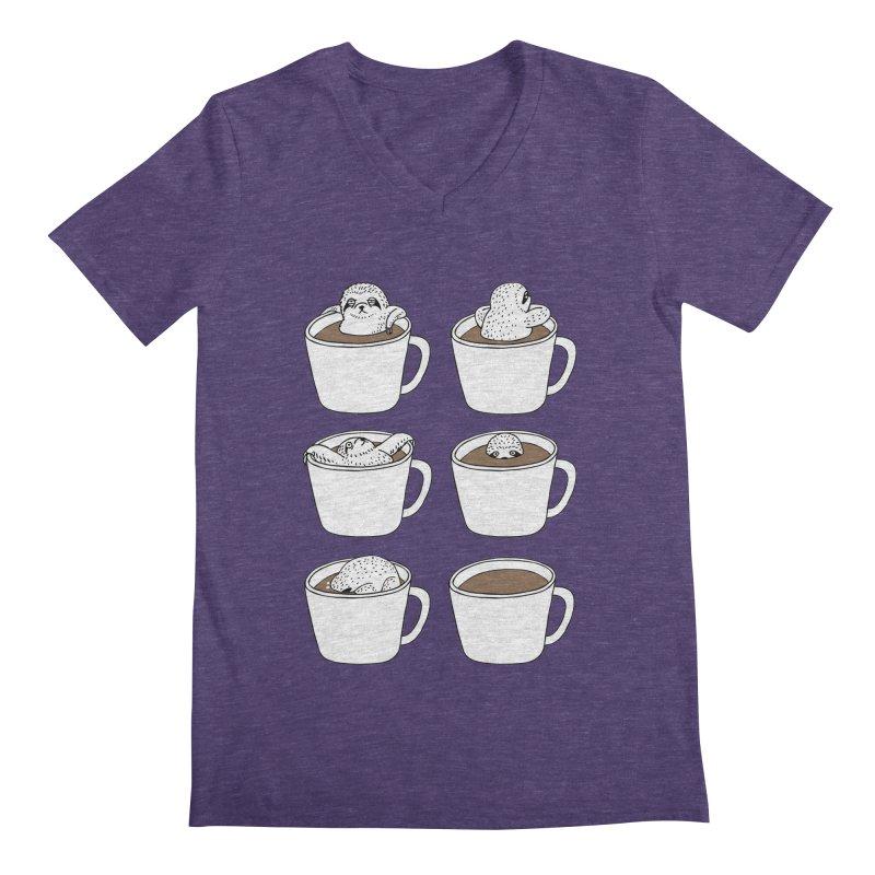 More Coffee Men's V-Neck by huebucket's Artist Shop