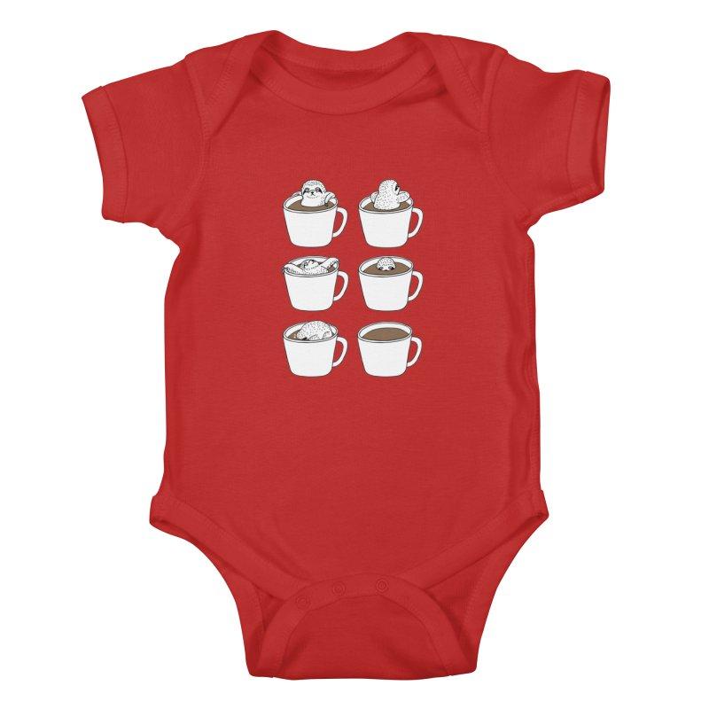 More Coffee Kids Baby Bodysuit by huebucket's Artist Shop