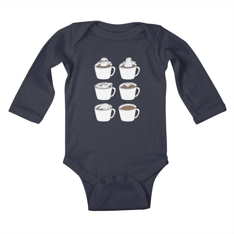 More Coffee Kids Baby Longsleeve Bodysuit by huebucket's Artist Shop