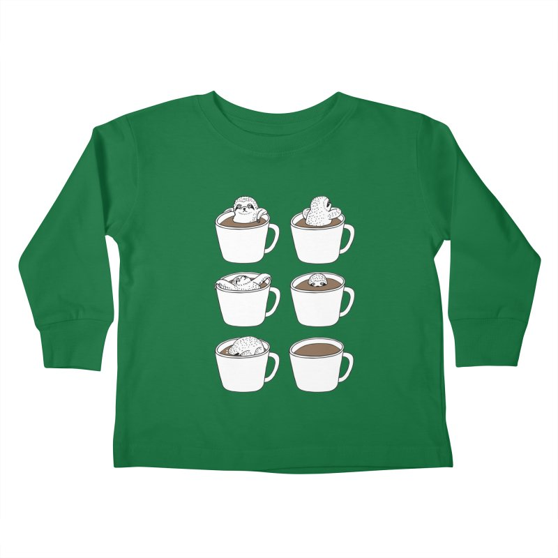 More Coffee Kids Toddler Longsleeve T-Shirt by huebucket's Artist Shop