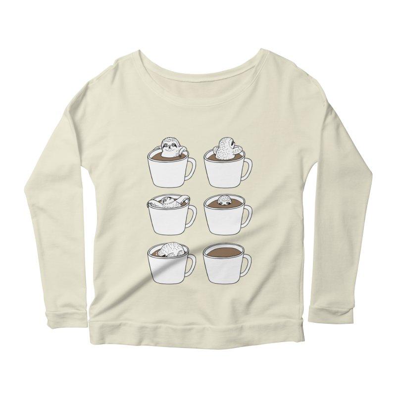 More Coffee Women's Longsleeve Scoopneck  by huebucket's Artist Shop
