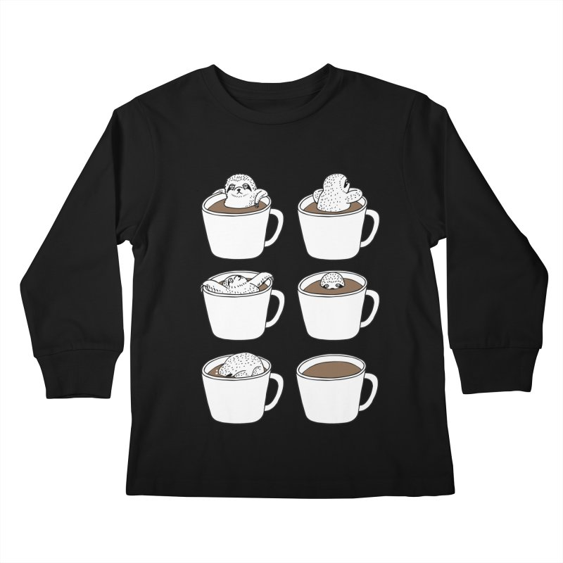 More Coffee Kids Longsleeve T-Shirt by huebucket's Artist Shop
