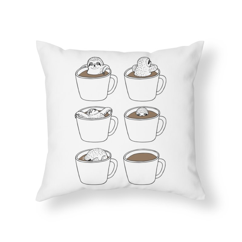 More Coffee Home Throw Pillow by huebucket's Artist Shop