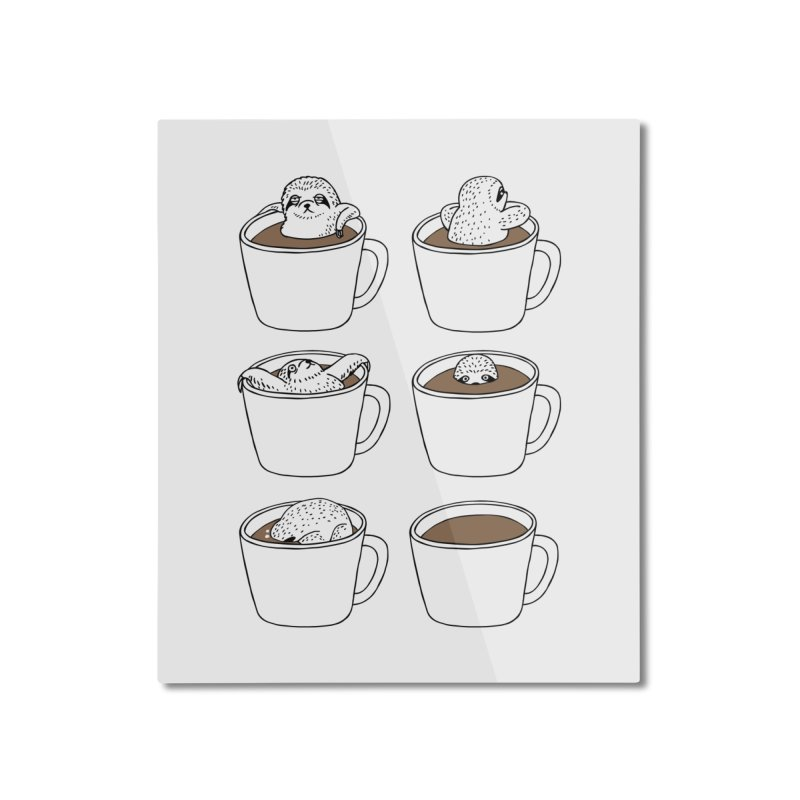 More Coffee Home Mounted Aluminum Print by huebucket's Artist Shop