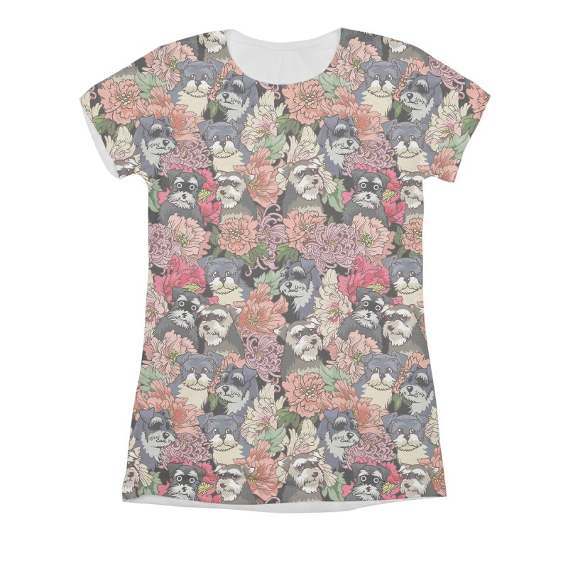 BECAUSE SCHNAUZERS Women's Triblend All Over Print by huebucket's Artist Shop