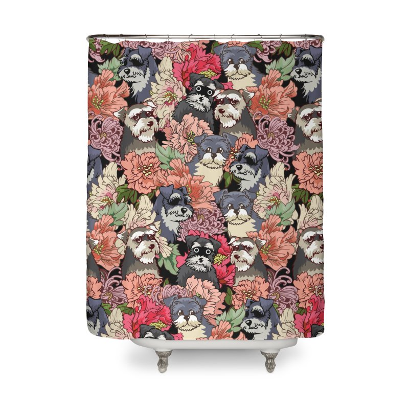 BECAUSE SCHNAUZERS Home Shower Curtain by huebucket's Artist Shop