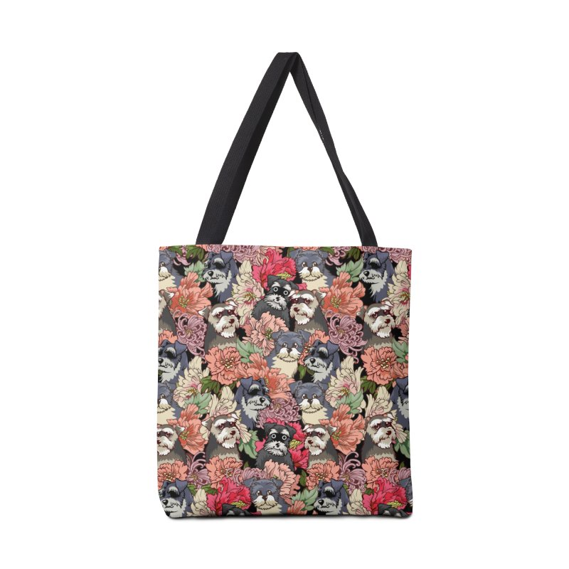 BECAUSE SCHNAUZERS Accessories Bag by huebucket's Artist Shop