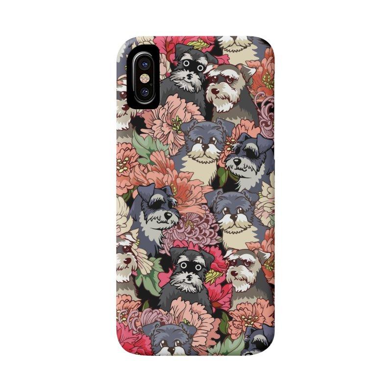BECAUSE SCHNAUZERS Accessories Phone Case by huebucket's Artist Shop