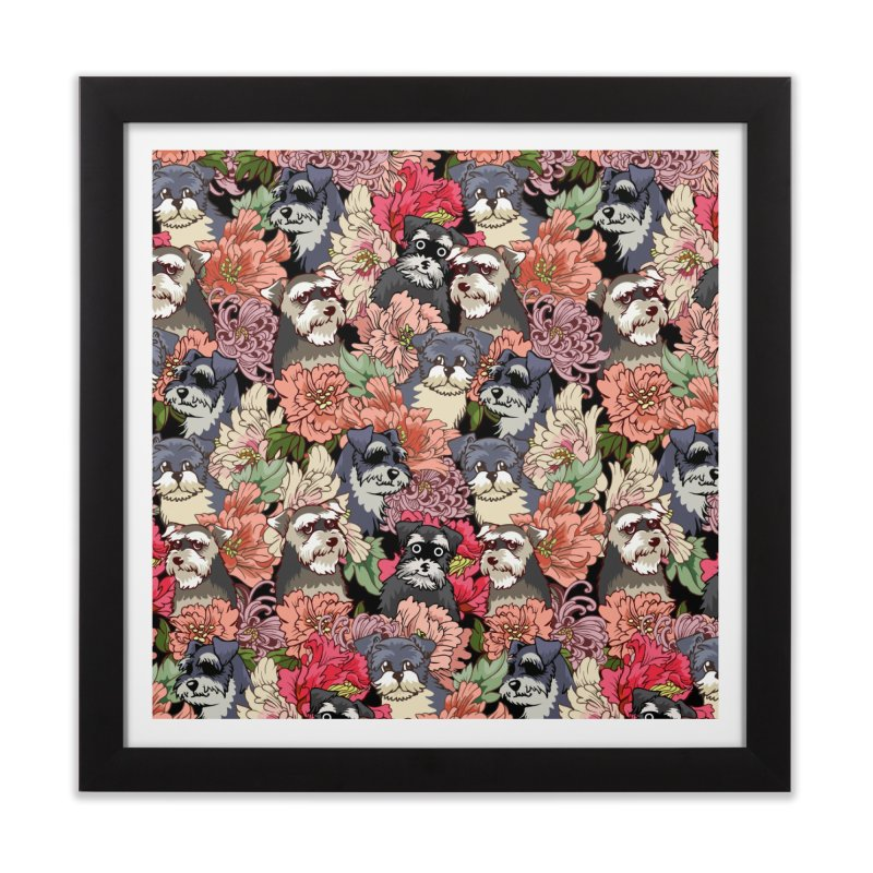 BECAUSE SCHNAUZERS Home Framed Fine Art Print by huebucket's Artist Shop