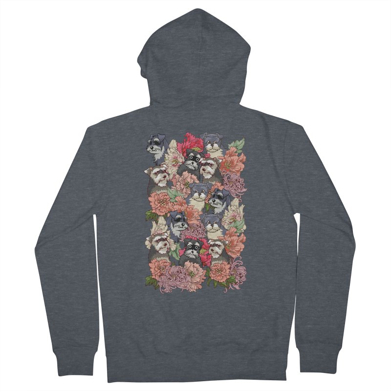 BECAUSE SCHNAUZERS Women's Zip-Up Hoody by huebucket's Artist Shop