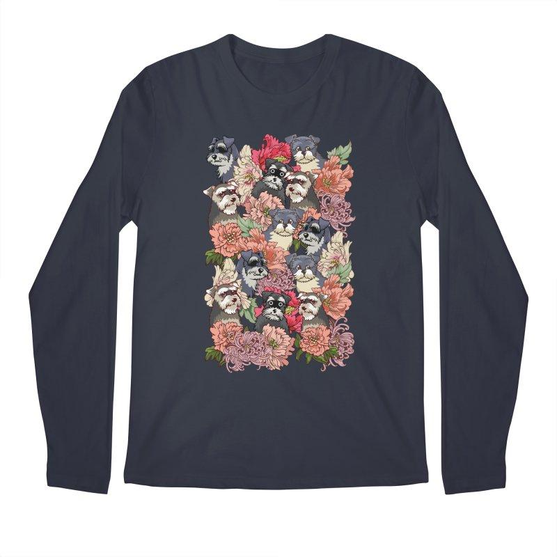 BECAUSE SCHNAUZERS Men's Longsleeve T-Shirt by huebucket's Artist Shop