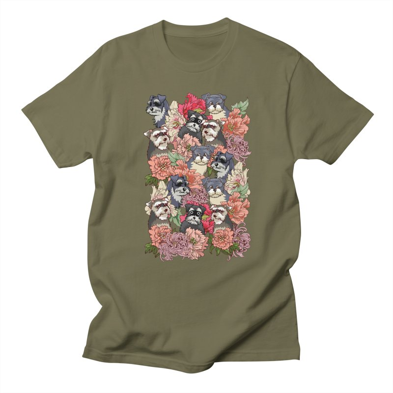 BECAUSE SCHNAUZERS Women's Unisex T-Shirt by huebucket's Artist Shop