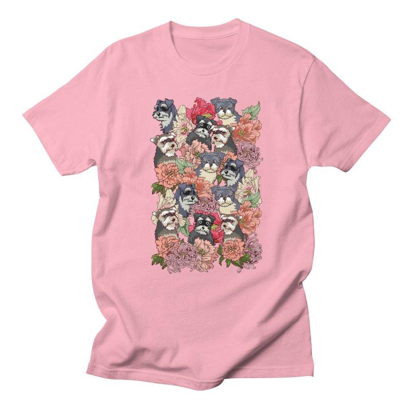 BECAUSE SCHNAUZERS Men's T-Shirt by huebucket's Artist Shop