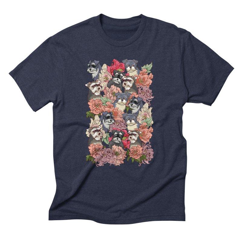 BECAUSE SCHNAUZERS Men's Triblend T-Shirt by huebucket's Artist Shop