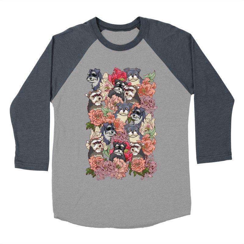BECAUSE SCHNAUZERS Women's Baseball Triblend T-Shirt by huebucket's Artist Shop