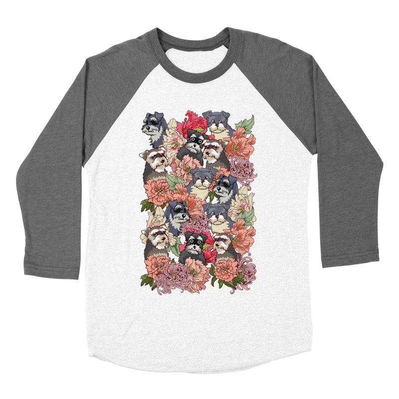 BECAUSE SCHNAUZERS Men's Baseball Triblend T-Shirt by huebucket's Artist Shop