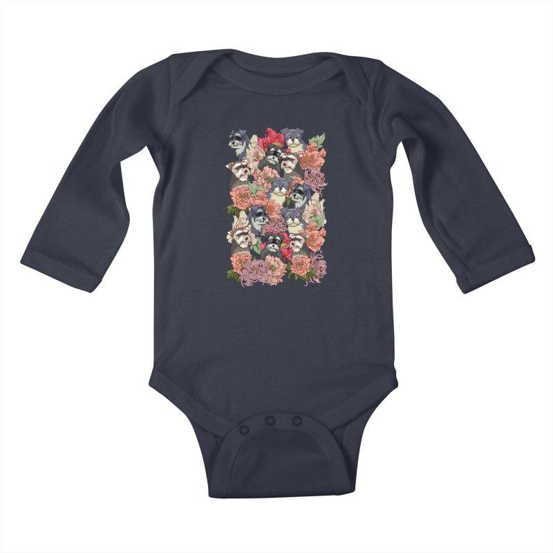 BECAUSE SCHNAUZERS Kids Baby Longsleeve Bodysuit by huebucket's Artist Shop