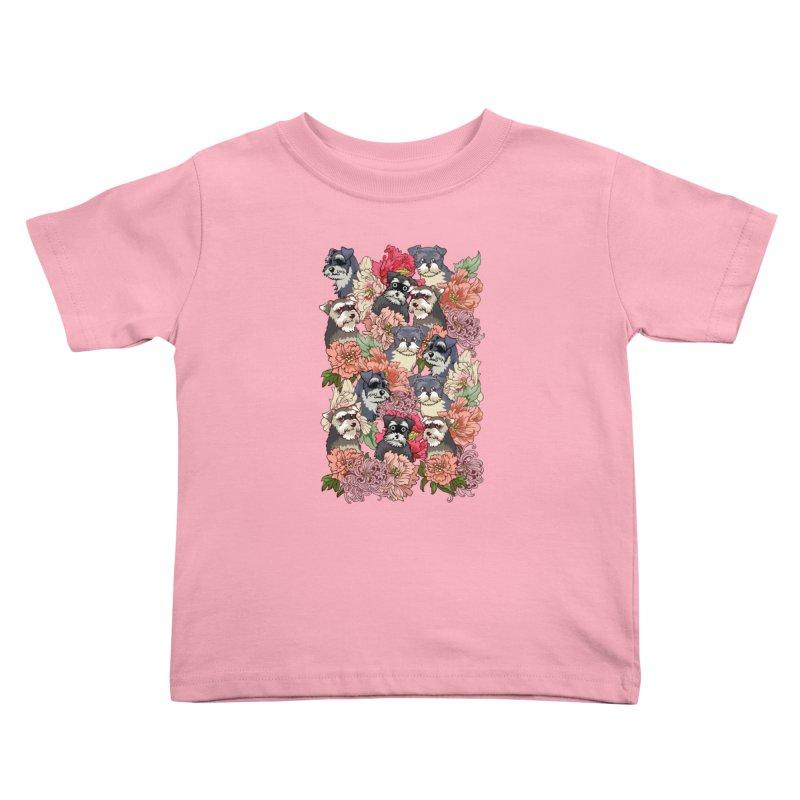 BECAUSE SCHNAUZERS Kids Toddler T-Shirt by huebucket's Artist Shop