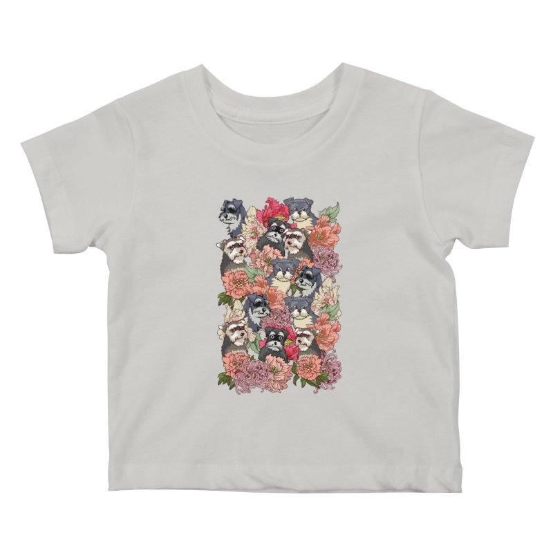 BECAUSE SCHNAUZERS Kids Baby T-Shirt by huebucket's Artist Shop