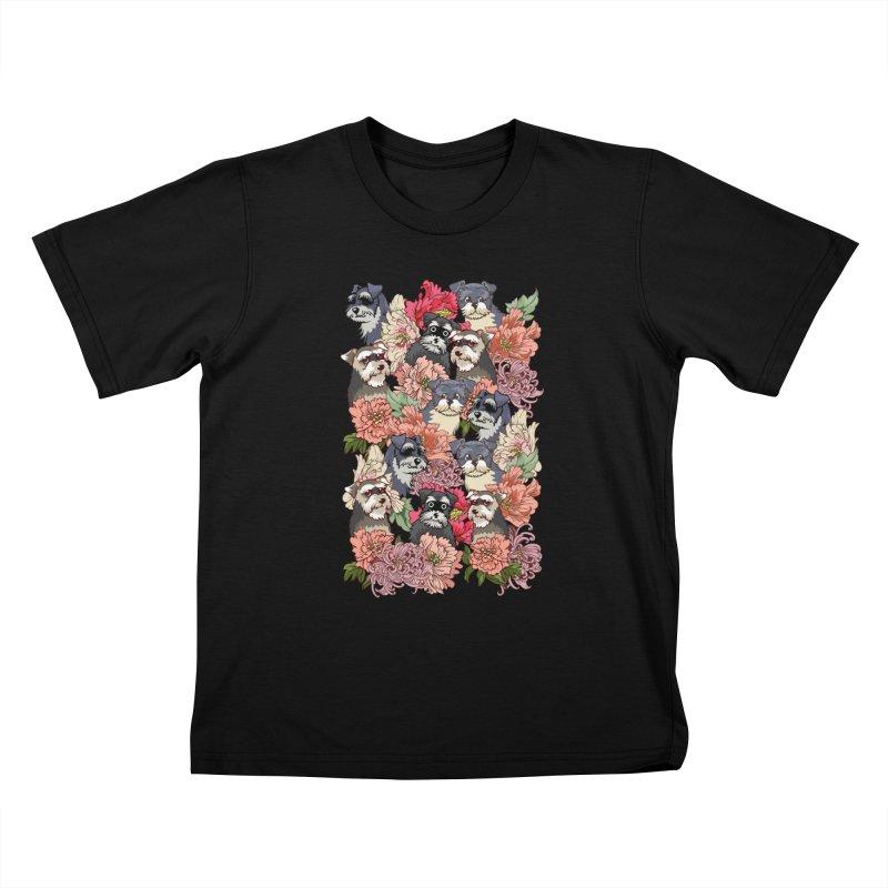 BECAUSE SCHNAUZERS Kids T-Shirt by huebucket's Artist Shop