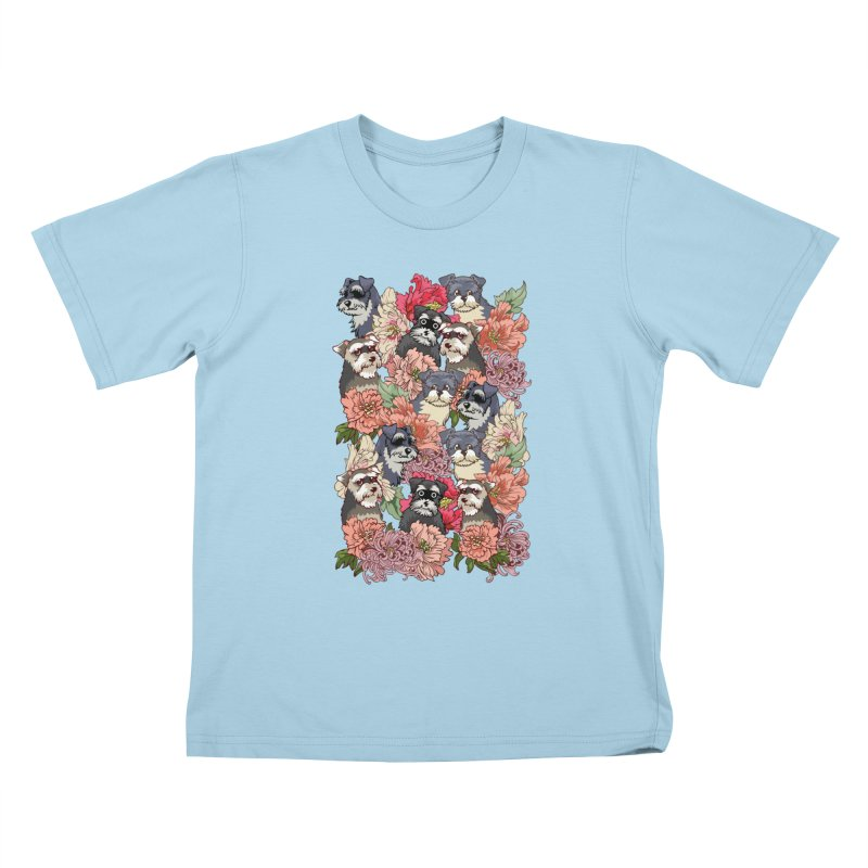 BECAUSE SCHNAUZERS Kids T-shirt by huebucket's Artist Shop