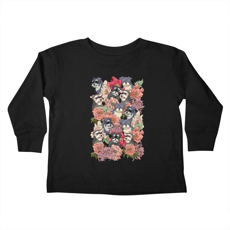 BECAUSE SCHNAUZERS Kids Toddler Longsleeve T-Shirt by huebucket's Artist Shop