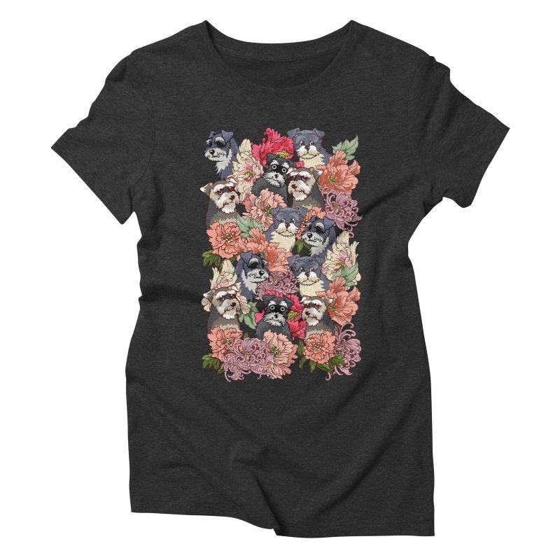 BECAUSE SCHNAUZERS Women's Triblend T-Shirt by huebucket's Artist Shop