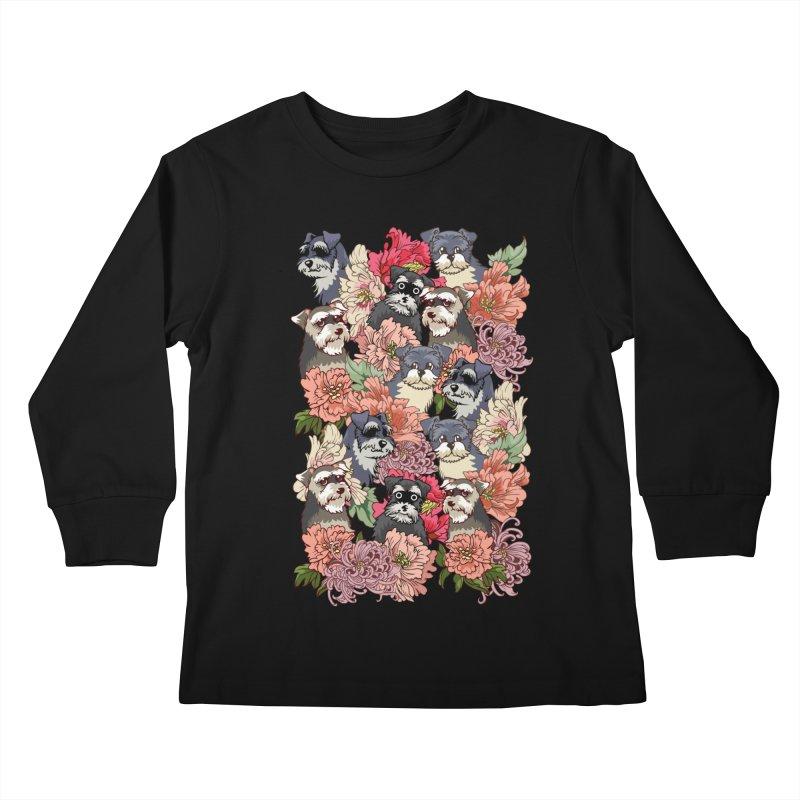BECAUSE SCHNAUZERS Kids Longsleeve T-Shirt by huebucket's Artist Shop