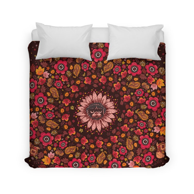 FALL PUG MEDALLION Home Duvet by huebucket's Artist Shop