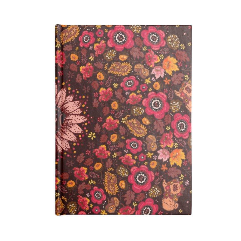 FALL PUG MEDALLION Accessories Notebook by huebucket's Artist Shop
