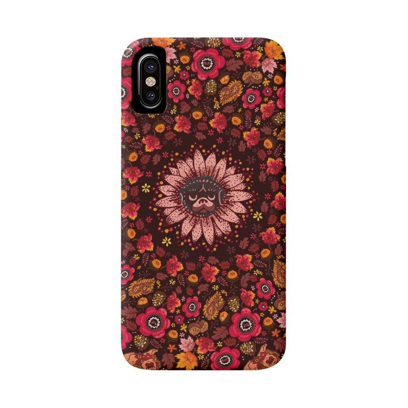 FALL PUG MEDALLION Accessories Phone Case by huebucket's Artist Shop