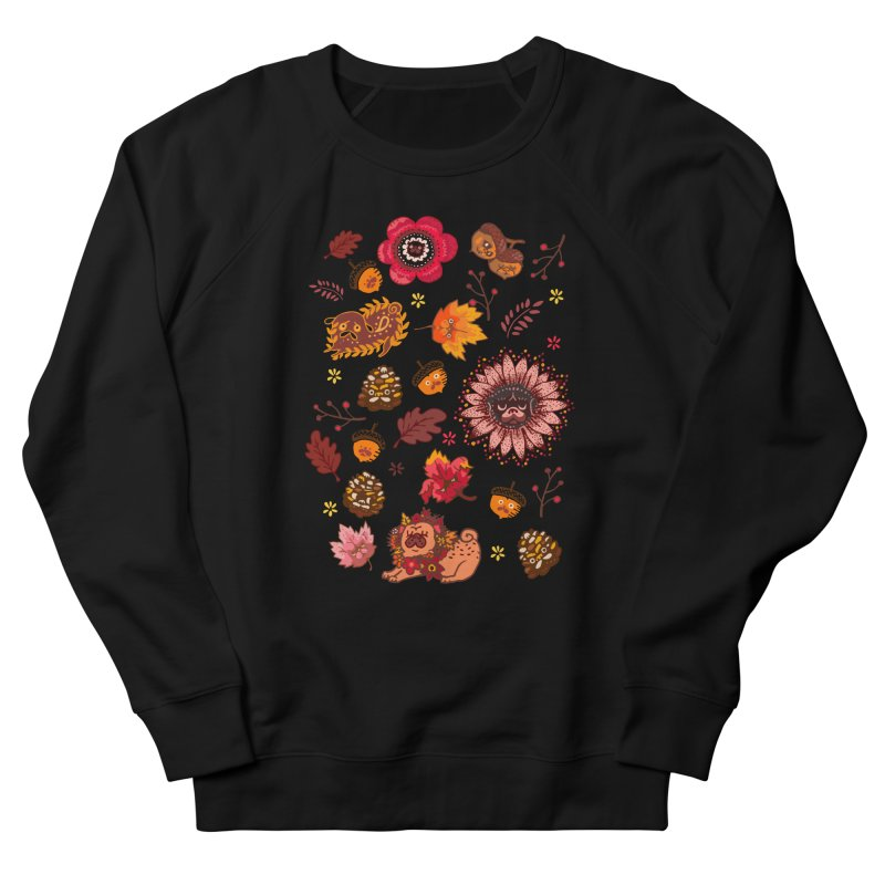FALL PUG MEDALLION Men's Sweatshirt by huebucket's Artist Shop