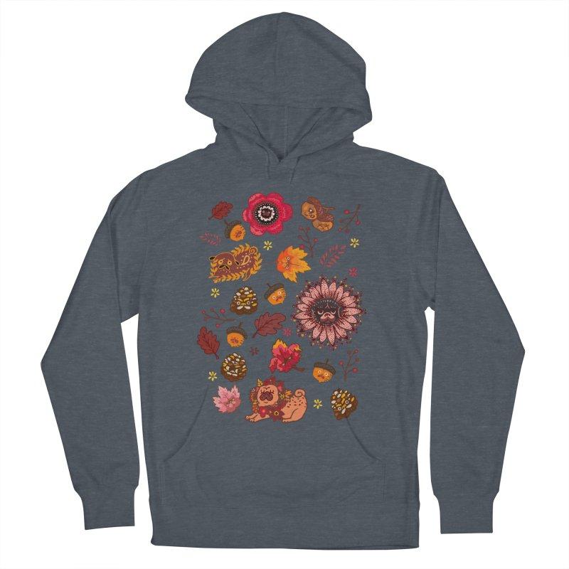 FALL PUG MEDALLION Women's Pullover Hoody by huebucket's Artist Shop